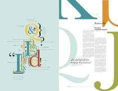 Font Study: ITC New Baskerville by Valery Herman, via Behance