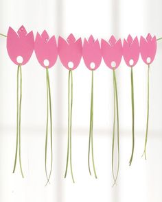 © Tulpen-Girlande aus Papier