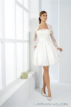 Vestido de novia cortos 2017