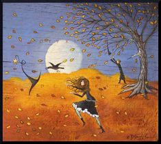 It Takes What It Will, a Small Halloween Witch Crow Wizard PRINT from the original by Deborah Gregg Halloween Eve, Halloween Witch Decorations, Halloween Artwork, Halloween Images, Halloween Prints, Halloween Ghosts, Vintage Halloween, Halloween Canvas, Happy Halloween