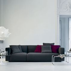 This is the Asymmetric Sofa from the Knoll Barber Osgerby range. It comes in a large range of fabric and leather options.Buy Knoll sofas from Utility Design today Sofa Furniture, Living Room Furniture, Furniture Design, Sofa Design, Interior Design Process, Eero Saarinen, Charles Eames, Contemporary Sofa, Best Sofa