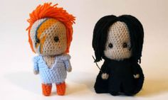 Artist Crochets David Bowie And Alan Rickman To Remember The Two Legends