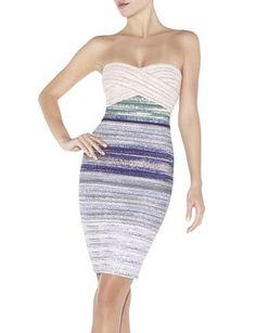 Herve Leger jacquard ombre Izzie dress