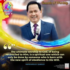 Pastor Apollo Quiboloy, also known as the Appointed Son of God, is a revolutionary preacher who brings the true message of salvation in these last days. Spiritual Enlightenment, Spirituality, Social Media Pages, Great Leaders, Son Of God, Revolutionaries, Apollo, Worship, Sons