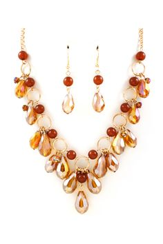 Briella Necklace in Autumn Crystal on Emma Stine Limited . For the bridesmaids. ...