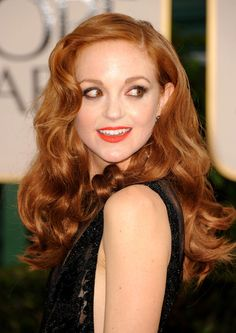 Jayma Mays Hair Color Formula -   Base (All over color):  7BC (2oz)  XBO – Extra Bright Orange (1/4oz)  Mix with: 20 volume Hairmonics developer (regular developer will suffice, also – Hairmonics is an enzyme-based activator that is great for red heads as it tends to expose warmth)  Process: 15 minutes under dryer (104-106°F), 15 minutes cool down [Continued]