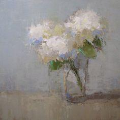 "Barbara Flowers, ""Small Bouquet"", Oil on Canvas, 40x40 - Anne Irwin Fine Art"