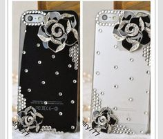 Two Different Color Polkadot& Floral Phone Cases