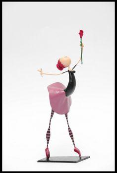 Bailarinas, Esculturas en Papel Mache
