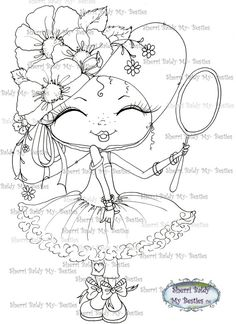 INSTANT DOWNLOAD Digital Digi Stamps Big Eye Big Head Dolls Digi   Besties Fancy Pants Besties IMG362 By Sherri Baldy