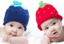 How to Knit a Strawberry Baby Hat