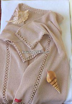соединение деталей изделия с помощью ажурной полосы, связанной крючком