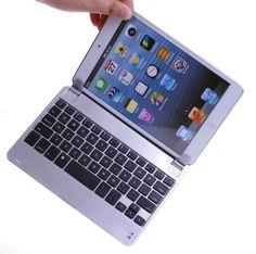 BATTOP Ultra-thin Aluminum Bluetooth Keyboard Case Cover with Stand for iPad Mini - Auto Wake / Sleep Feature(close to sleep , open to wake up) BATTOP