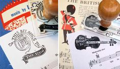 Bloomfield & Rolfe personalised music stamps