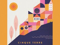 Fourth illustration in a mini-book i made documenting a trip through Italy. Cinque Terre is a must-see if you haven't been!