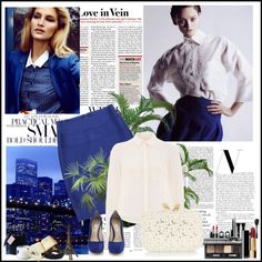 """blue"" by heheellen ❤ liked on Polyvore"