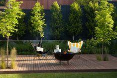 Highfield Rd - Ben Scott Garden Design, Timber Deck, Outdoor Firepit