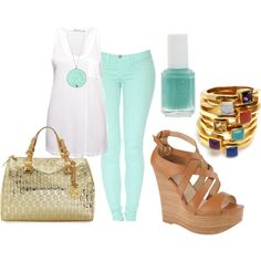"""Teal Heaven"" by vaneros on Polyvore"
