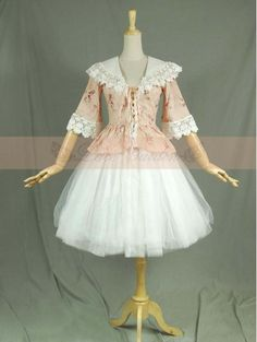 Vintage Floral Pattern Victorian Style Classic Lolita Dress