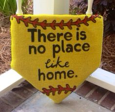 There Is No Place Like Home Plate softball by MadeByAnnaMo on Etsy, $45.00