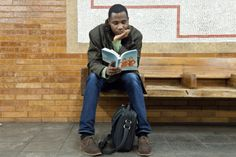 This is a fun idea: The Underground New York Public Library is a visual library featuring the Reading-Riders of the NYC subways.