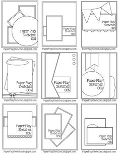 Paper Play Sketches - Sketch Templates - Ideas of Sketch Templates - Pause Dream Enjoy: Janis' Card Sketches Paper Bag Scrapbook, Scrapbook Cards, Scrapbook Journal, Fun Fold Cards, Folded Cards, Mises En Page Design Graphique, Card Making Templates, Paper Craft Templates, Owl Templates