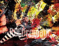 Zakk Wylde  Ozzy Osbourne  Original Painting Art by RockChromatic, $15.00