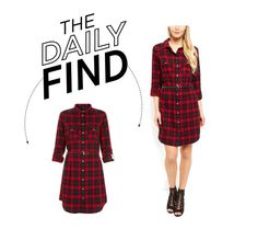 """""""Daily Find: New Look Shirt Dress"""" by polyvore-editorial ❤ liked on Polyvore featuring moda i DailyFind"""