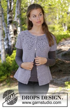 Women - Free knitting patterns and crochet patterns by DROPS Design Ladies Cardigan Knitting Patterns, Knitting Patterns Free Dog, Cardigan Pattern, Jacket Pattern, Free Knitting, Drops Design, Diy Crochet Bikini, Knit Crochet, Summer Knitting