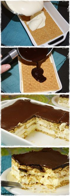 No-Bake Chocolate Eclair Dessert. Ok I can't pin anymore deserts after this. I have a serious problem.