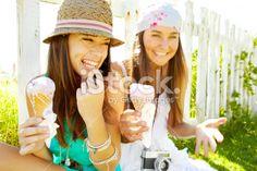 Ice cream makes everything better Foto d'archivio esente da diritto d'autore