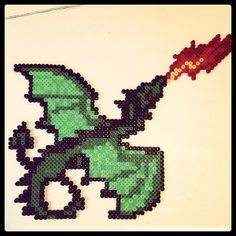 Dragon hama perler beads by pagey163