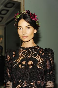Lily Aldridge, Olivia Palermo, and the Return of Pretty - Vogue Daily - Fashion and Beauty News and Features - Vogue Lily Aldridge, Wedding Guest Makeup, Bohostyle, Victoria Secret Angels, Camila, Party Looks, Olivia Palermo, Balmain, My Hair
