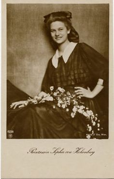 Princess Sophie of Hohenberg, daughter of Archduke Franz Ferdinand of Austria.