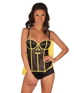 Batman Bat Girl Adult Womens Corset with Cape  #CatalogSpree