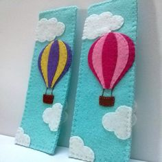 Felt bookmark - Hot air balloon in the sky Listing is for 1 bookmark Item is…