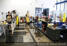 What happens when glass is no longer hot? Find out in the Niche Cold Shop!  http://www.nichemodern.com/blog/factory-sale-2/welcome-to-the-niche-cold-shop/