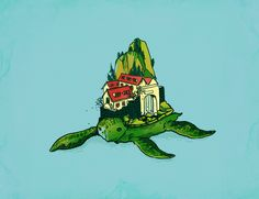 Poster | TURTLE FORT von Budi Kwan | more posters at http://moreposter.de