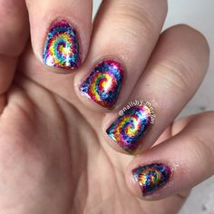 Go on a psychedelic ride with these swirly bits and colors from nail artist Morgan.  She used the lacquers she received as a gift from Formula X #InfiniteOmbre.