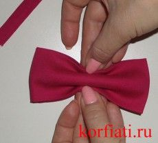 Мастер-класс - галстук-бабочка