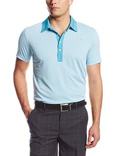 ba01b6fd1026 Puma Golf NA Mens Jacquard Pattern Polo WhiteScuba Blue Medium     See this  great