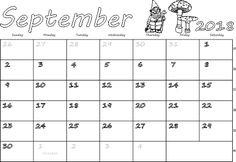 Calendar for September 2018 2018 Calendar Printable Free, 2018 Calendar Template, Excel Calendar, September Calendar 2018, Calendar Wallpaper, Free Printables, Printable Templates, Holidays, Printable Stencils