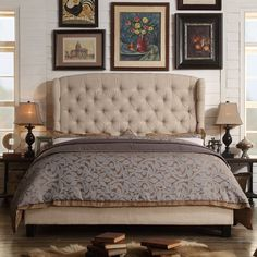 Felisa Upholstered Panel Bed & Reviews | Birch Lane