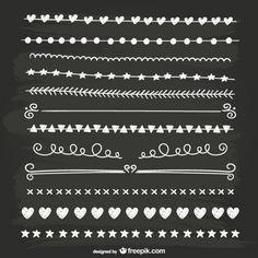 Black and white calligraphic separators