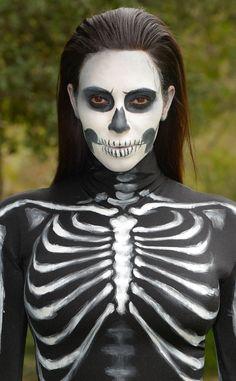 DIY Halloween Costume: Watch This Spooky Skeleton Makeup Tutorial Now! | E! Online Mobile