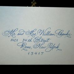 This calligraphy would be fantastic with our invitations.  Matches the font used for our names on the invite exactly.