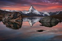 Xavier Jamonet is an amazing lansdcape photographer, born in 1982 in the Drôme, currently living and working in Lyon, France. As you may see below, Xavier loves Reflection Photography, Landscape Photography Tips, Nature Photography, Zermatt, Great Photographers, Landscape Photographers, Mountain Pictures, Water Reflections, Beautiful Landscapes