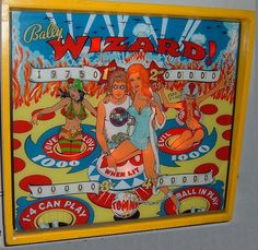 "Bally's ""Wizard"" pinball machine, inspired by The Who's Tommy. Video Game Machines, Pinball Wizard, Penny Arcade, Ball Lights, World Records, Retro Art, Arcade Games, Las Vegas, Pool Tables"