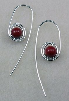 Quick spiraled bead earrings