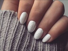 Cozy Knitted Nail Art Allows Your Nails to Bundle Up in a Sweater Too  - Seventeen.com
